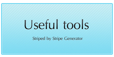 useful tools striped by stripe generator